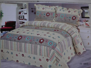 Original 100% Cotton 3Piece KING Size Quilt Sets-NOT Micro Fiber