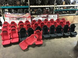 RECARO ACURA RSX DC5 RED RECARO OEM CLEAN SEATS PAIR 2002+