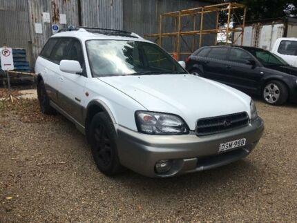 2002 Subaru Outback Limited White Automatic Wagon