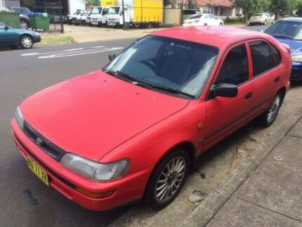 1998 Toyota Corolla AE101R CSi Seca Red 5 Speed Manual Liftback
