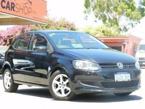 2013 Volkswagen Polo 6R MY13.5 77TSI DSG Comfortline Black 7 Speed Sports Automatic Dual Clutch