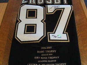 2007 Sidney Crosby Signed Pro Weight Trophy/Awards Jersey LE #24