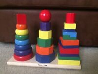 Geometric Wooden Stacker by Melissa and Doug