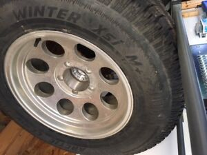 4 Arctic Claw XSi Winter Tires - M+S on 4 CK Pro Comp Alloy Rims