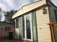 STATIC CARAVAN FOR SALE - BK SHERITON- DOUBLE GLAZED & CENTRAL HEATED- FRENCH DOORS!!
