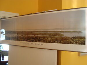 FRAMED PANORAMIC VANCOUVER VIEW PRINT 50''X16'' West Island Greater Montréal image 9