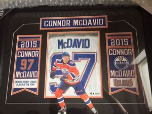 CONNOR MCDAVID BANNER COLLAGE - UNSIGNED