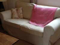 Ikea Ektorp Sofa with cream covers RRP £295