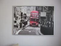 Ikea London bus print in frame,picture,Perfect Condition