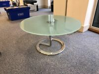 Boss design rota frosted glass circular coffee table