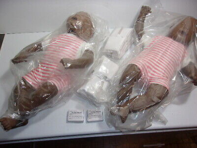 Lot 2 New Laerdal Baby Anne Infant Cpr Training Manikins Case Resuscitator