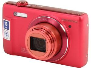 OLYMPUS Stylus VR-370 V105110RU000 Red 16 MP 12X Optical Zoom 24mm Wide Angle Di