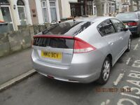 FOR SALE/PCO/HPI CLEAR/ PART SERVICE HISTORY/ SILVER HONDA INSIGHT 1.3 PETROL, 5DR, HYBRID AUTOMATIC