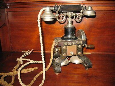 Skeletttelefon Telefon um 1900 selten Sammler Bastler