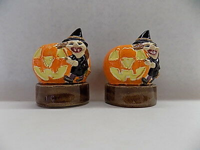 HALLOWEEN - Witch & Pumpkin Salt & Pepper Shakers, Made in china