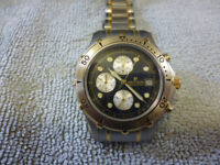 Pierre Cardin Men's Divers Chronograph Watch. Perfect, Never Worn. New Battery Fitted + 2 Extra Free