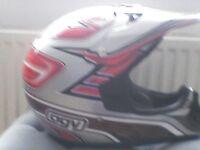 Motocross crash helmet like new size small.