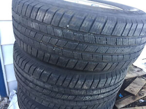 LT 265/70R17 SUMMER TIRES WITH 8 BOLT DODGE RIMES 10PLY