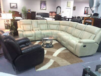 BRAND NEW AIR LEATHER RECLINER SECTIONAL WITH MEMORY FOAM