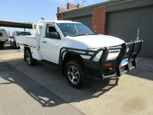 2010 Mitsubishi Triton MN MY11 GLX White 5 Speed Manual Cab Chassis Gilles Plains Port Adelaide Area Preview