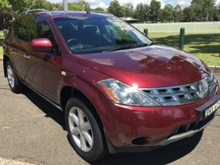 2007 Nissan Murano Z50 TI-L Maroon 0 Speed Continuous Variable Wagon Homebush Strathfield Area Preview