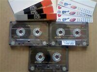 JL CHEAPEST ONLINE 3x TDK D 120 D120 CASSETTE TAPES 1988-1989 W/ CARDS CASES LABELS ALL VGC