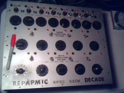 Home Brew Paper Mica Decade Capacitor - Kit Not Completed But Close Vintage