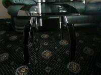 Black & silver side table