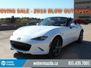 2016 Mazda MX-5 GT YEAR END CLEARANCE LEATHER