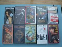 Music Videos VHS - Lot of 10 (Whitesnake/Sabbath/Purple/Clapton/Magnum/Satriani/Quo/McCartney/Twain)