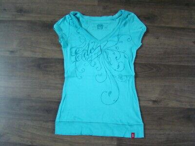 EDC by ESPRIT DAMEN TShirt Bluse XS TOP Shirt Mädchen blau türkis 1xgetragen