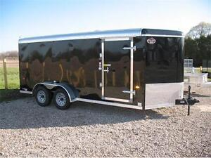 2016 7x16 V-Nose Enclosed Trailer with ramp and torsion axles
