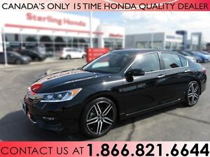 2017 Honda Accord SPORT | 1 OWNER | HONDA WARRANTY