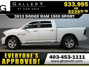 2013 DODGE RAM SPORT CREW *EVERYONE APPROVED* $0 DOWN $229/BW!