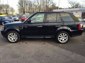 LAND ROVER RANGE ROVER SPORT 2.7 V6 HSE DIESEL AUTOMATIC 1 YEAR AA WARRANTY AT (black) 2008