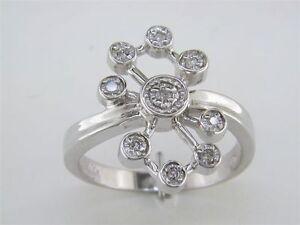 Lady's Diamond Flower Ring in 14k White Gold