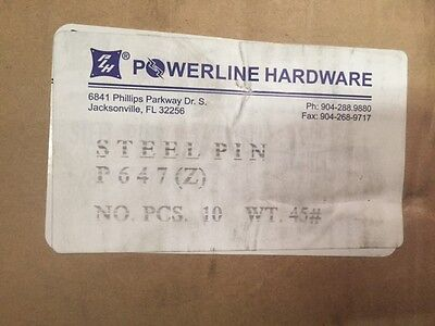 Lot Of 10 Powerline Hardware High Voltage Steel Primary Pins Cat P647 New