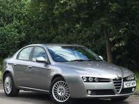 ALFA ROMEO 159 2.4 JTDm 6 SPEED GREY 99k FSH FULL LEATHER PARK SENSORS CD BLUET