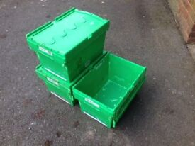 HEAVY DUTY STORAGE CONTAINERS WITH FLIP LIDS
