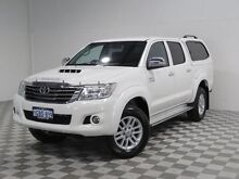 2014 Toyota Hilux KUN26R MY14 SR5 (4x4) White 5 Speed Automatic Dual Cab Pick-up Jandakot Cockburn Area Preview