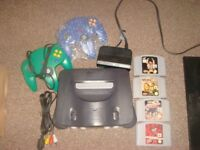 nintendo 64 n64 grey console with 4 games and 2 controllers maybe swap for another retro console