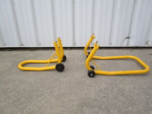 MOTORCYCLE RACE STANDS