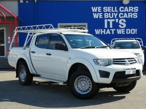 2015 Mitsubishi Triton MN MY15 GLX Double Cab 4x2 White 4 Speed Sports Automatic Utility Welshpool Canning Area Preview