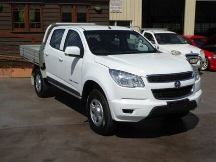 2015 Holden Colorado RG MY15 LS (4x4) White 6 Speed Manual Crew Cab Chassis Brendale Pine Rivers Area Preview
