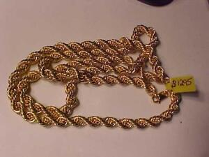 "#1484-Huge looking 10k ROPE CHAIN 31 "" LONG *LOBSTER CLAW CLOSURE*APPROXIMATELY 8mm Weighs 36.88 grams LAYAWAY-FREE S/H"