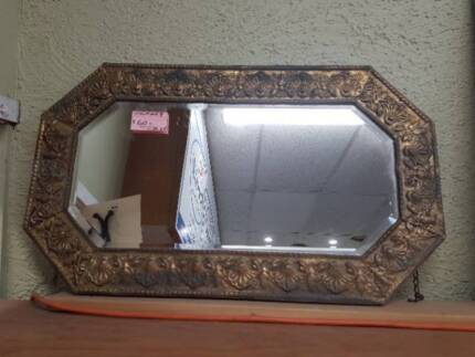 Vintage Bevelled Edge Mirror Bloomhill Cancer Care