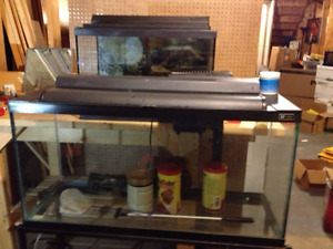 2 complete Aquariums and accessories