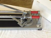 Trade tile cutter with hole cutter