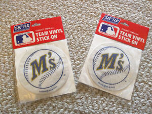 Seattle Mariners Vinyl Stick-On with the 1987-1992 logo