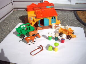 FISHER PRICE VINTAGE WESTERN, ACCES